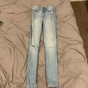 Hollister Light Wash Ripped Skinny Jeans